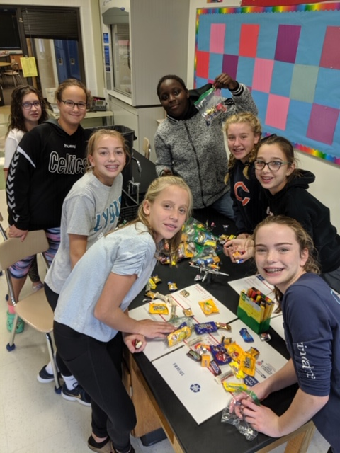 Girl's Basketball Team Supporting Operation Care Package