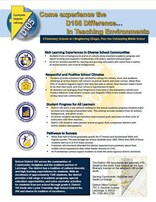 Come experience the D105 Difference...In Teaching Environments